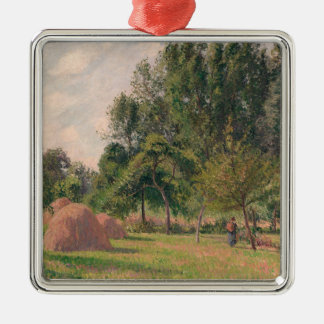 Haystacks, Morning, Eragny Metal Ornament