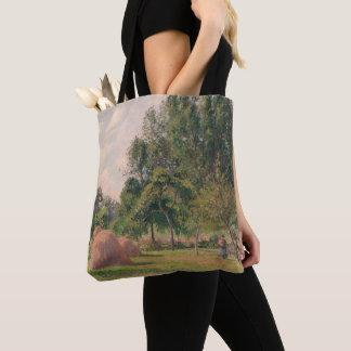 Haystacks, Morning, Eragny Tote Bag