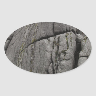 Haytor. Rocks in Devon England. Oval Sticker