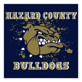 Hazard county kentucky bulldogs poster