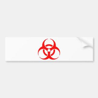 Hazard sign bumper sticker