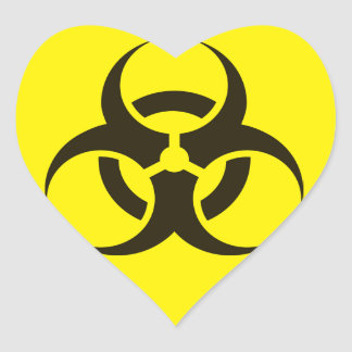 Hazardous Bio Biological heart Heart Sticker
