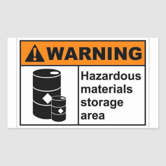 Hazardous Materials Storage Area Sticker