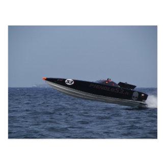 Hazards Of Powerboat Racing Postcard