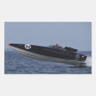 Hazards Of Powerboat Racing Rectangular Stickers