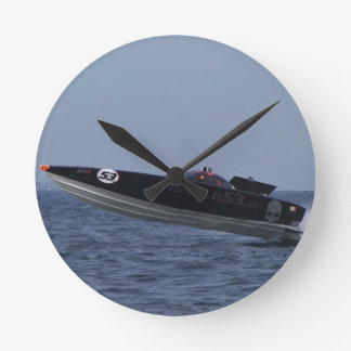 Hazards Of Powerboat Racing Wall Clock