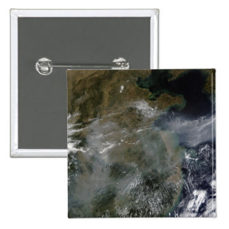 Haze across the North China Plain 2 Inch Square Button