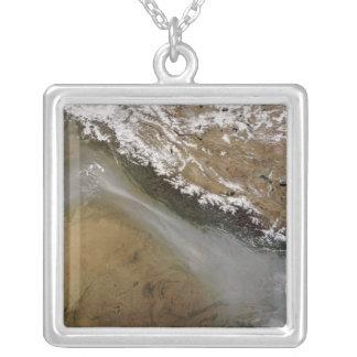 Haze along the Himalaya Mountains Square Pendant Necklace