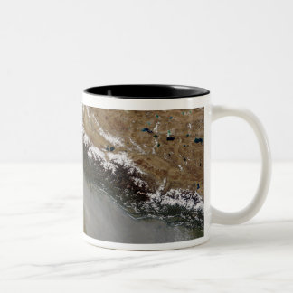 Haze along the Himalaya Mountains Two-Tone Coffee Mug