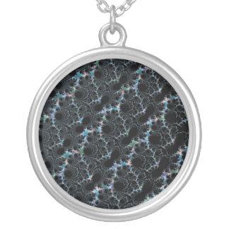 Haze - Mandelbrot Fractal Silver Plated Necklace