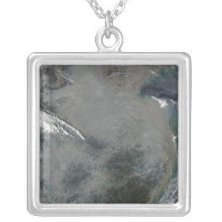 Haze over eastern China Custom Necklace