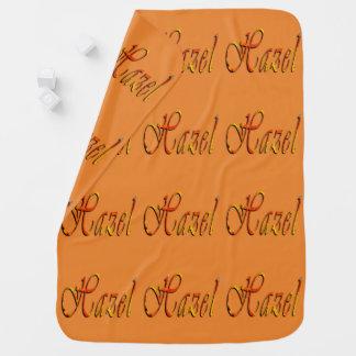 Hazel, Name, Logo, Baby Girls Amber Fleece Blanket Baby Blanket