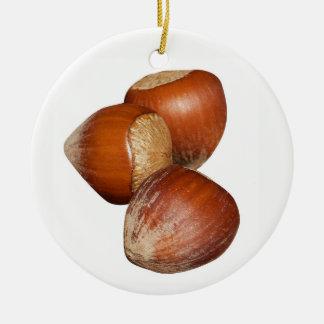 Hazel Nuts Ceramic Ornament