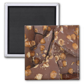 hazelnut chocolate square magnet
