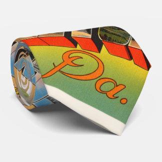 Hazelton Pennsylvania PA Vintage Travel Souvenir Tie