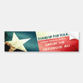 Hazlewood Act Stand Up Bumper Sticker