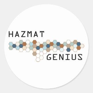 Hazmat Genius Round Sticker