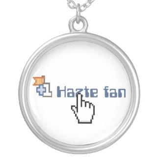 Hazte Fan Round Pendant Necklace