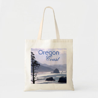 Hazy Blue Haystack Rock Oregon Coast Bag