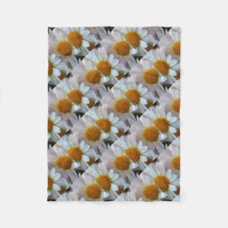 Hazy Day Daisies Fleece Blanket