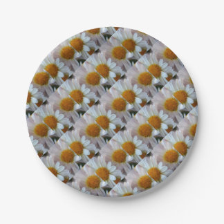 Hazy Day Daisies Paper Plate