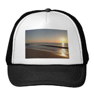 Hazy sunrise trucker hat