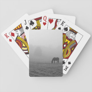 Hazzy Grazing Grayscale Playing Cards