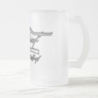 HB crew chief Frosted Glass Beer Mug