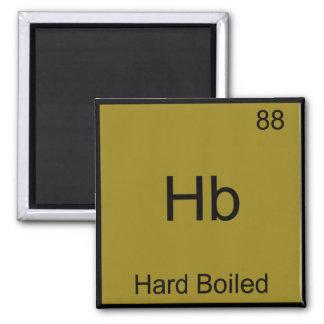 Hb - Hard Boiled Funny Chemistry Element Symbol Square Magnet