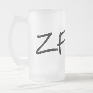 HB ZF FROSTED GLASS BEER MUG