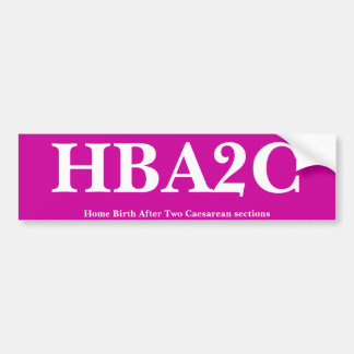 HBA2C BUMPER STICKER