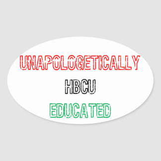 HBCU Educated Oval Sticker