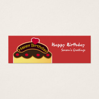 HBD Bookmark Mini Business Card