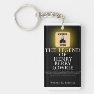 HBL - Rect Key Chain - Book Cover & Wanted Poster Rectangular Acrylic Keychain