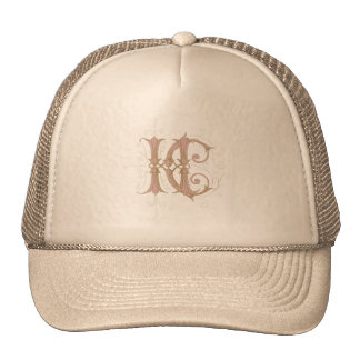 HC or CH Monogram in Pink and Gold Trucker Hat