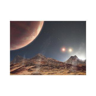 HD188753 Three suns NASA Canvas Print