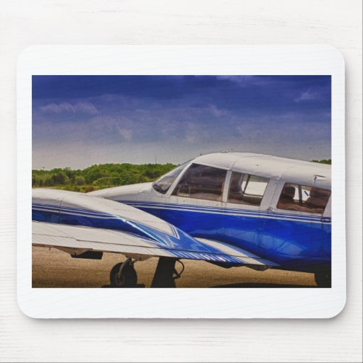 HDR Blue Bright Plane Searching for the Clouds Mouse Pad