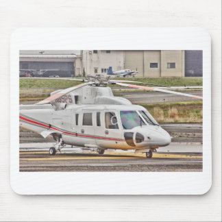 HDR Copter Red Gray Stripes Mousepads
