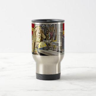 HDR Fireman Gear and Fire Truck Travel Mug