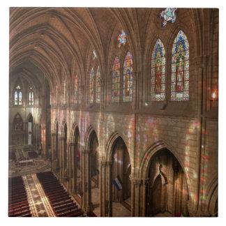 HDR image of Basilica interior, Quito, Ecuador Tile