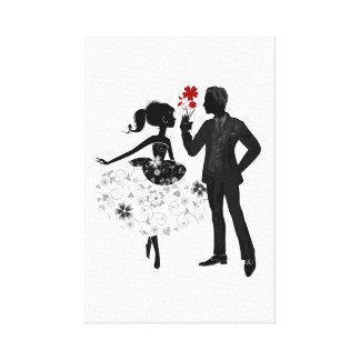 He and She Him Her Valentines Day Home Wall Art