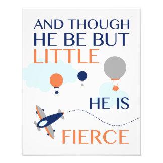 He Be But Little, He Is Fierce Nursery Art Photo Art