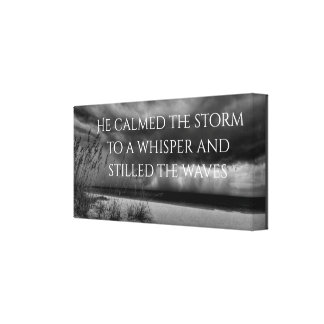 He calms the storm canvas print