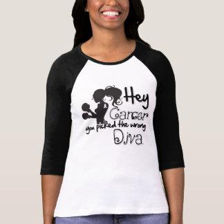 Hé cancer de poumon vous avez sélectionné la diva t-shirt