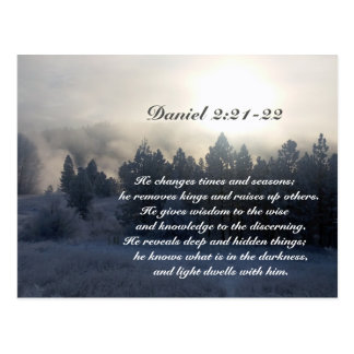 He changes times and seasons, Daniel 2:21 Bible Postcard