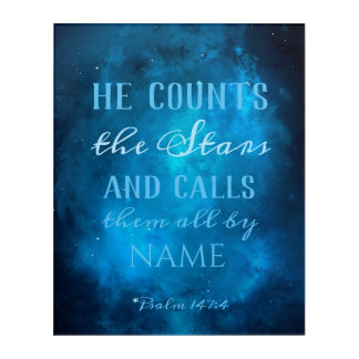 He Counts the Stars Acrylic Wall Art
