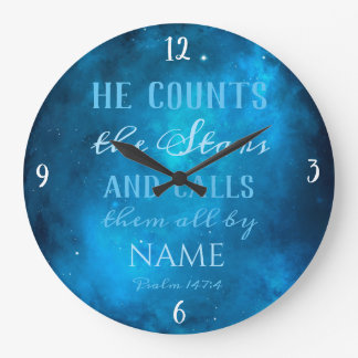 He Counts the Stars in the Universe Large Clock