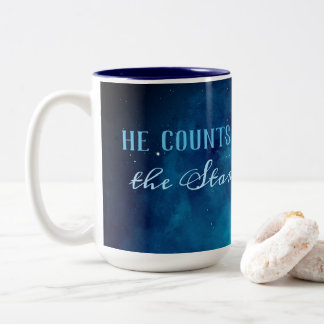 He Counts the Stars Two-Tone Coffee Mug