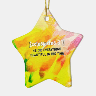 He Did Everything Beautiful In His Time Ceramic Ornament