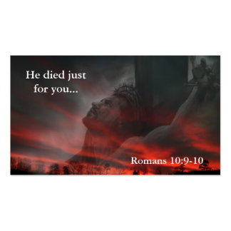 He died just for you... business card template